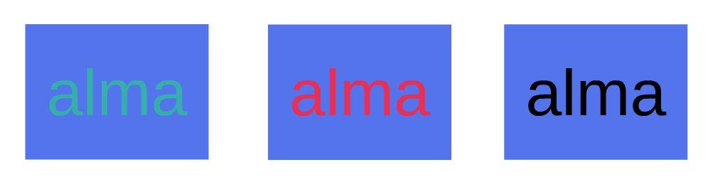Különböző betűszínek azonos háttér előtt