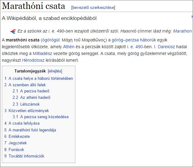 egy Wikipedia-szócikk eleje